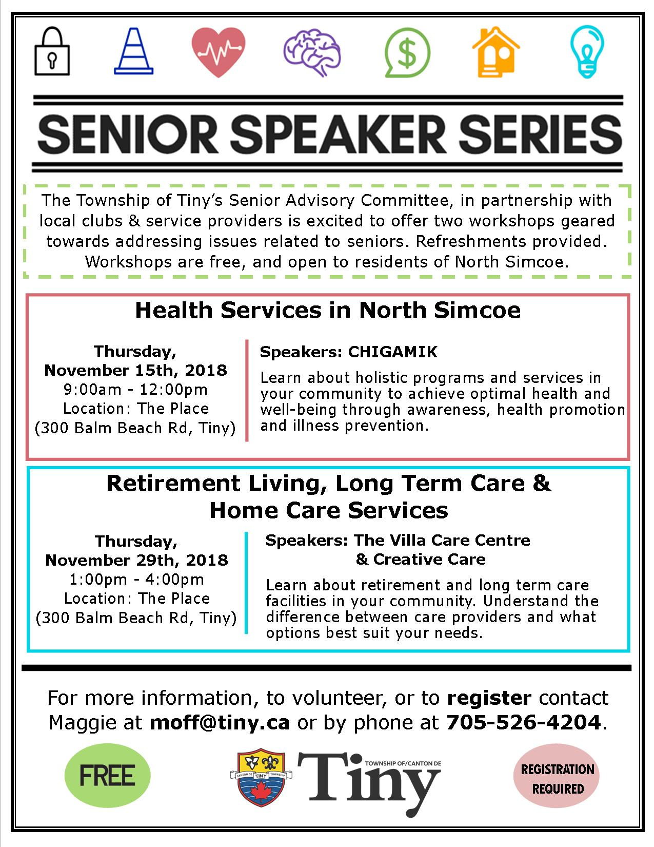 Tiny Senior Speaker Series