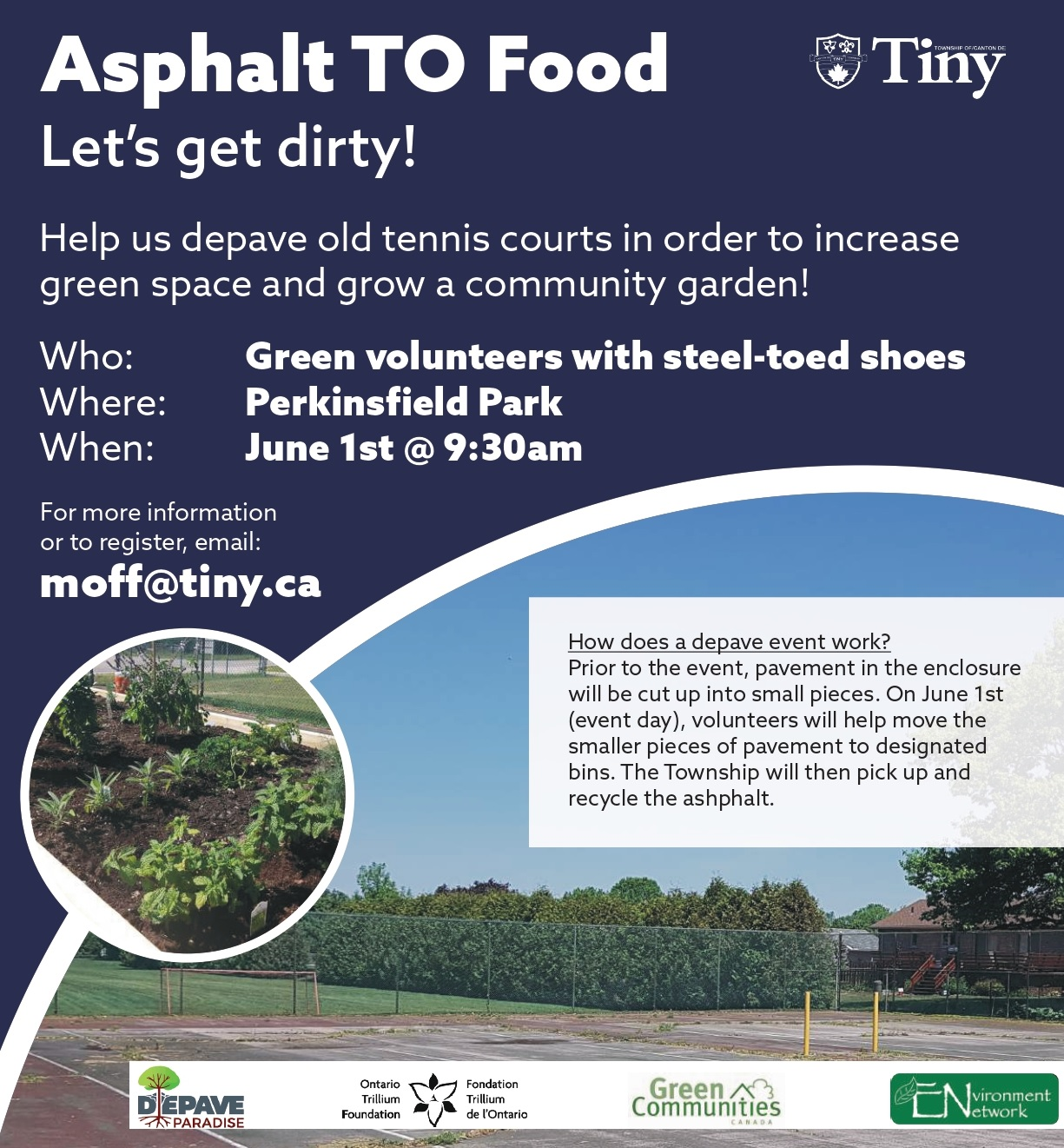 Local Food Project: DePave Paradise - June 1st