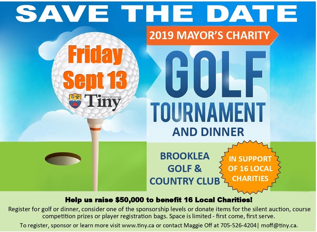 2019 Mayor's Charity Golf Tournament & Dinner - September 13th