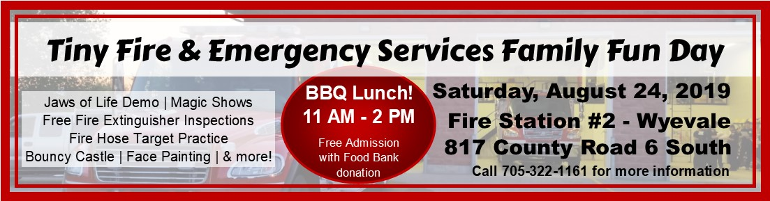 August 24th - Tiny's Fire and Emergency Services Family Fun Day