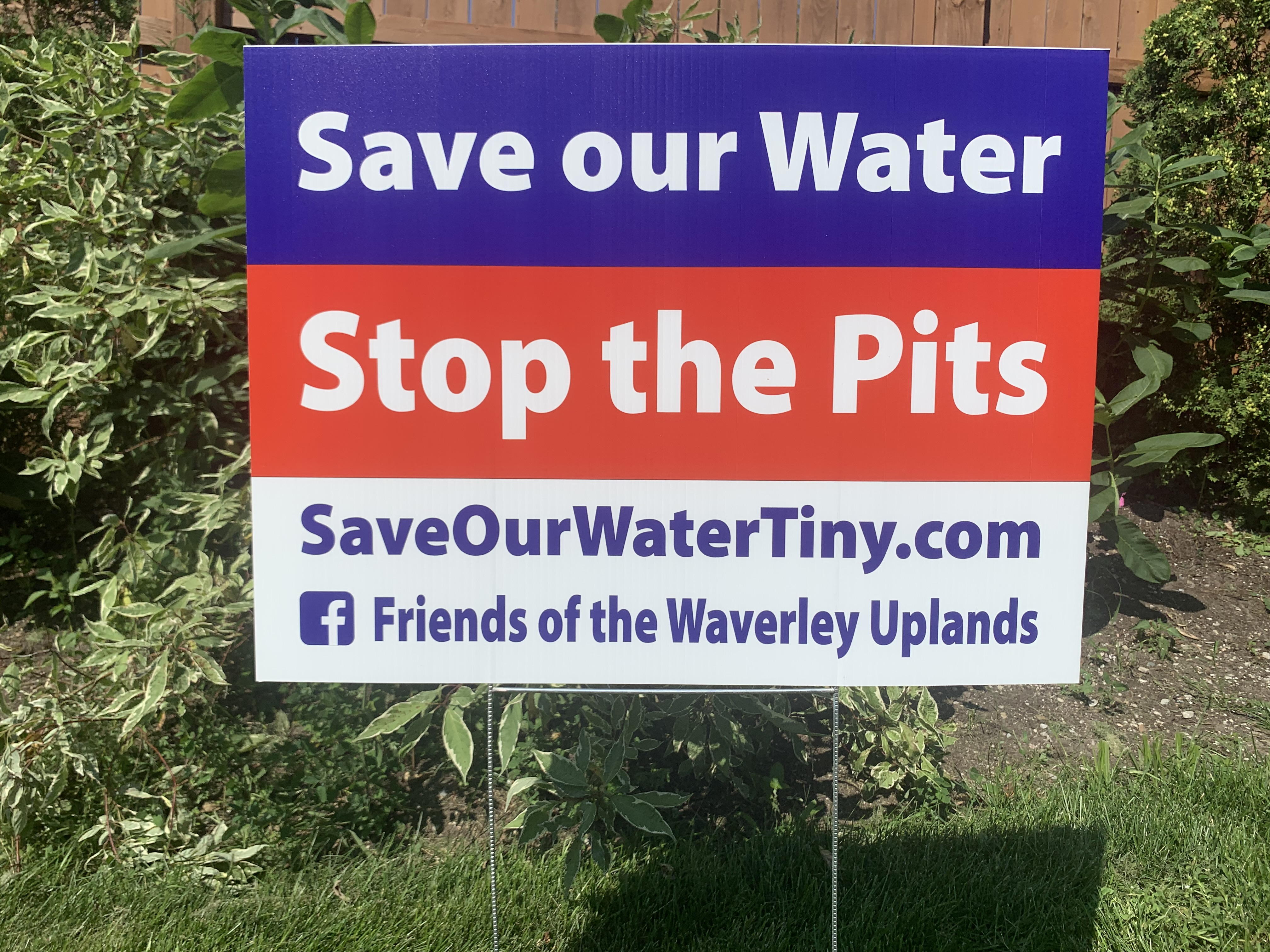 Save Our Water - Stop the Pits